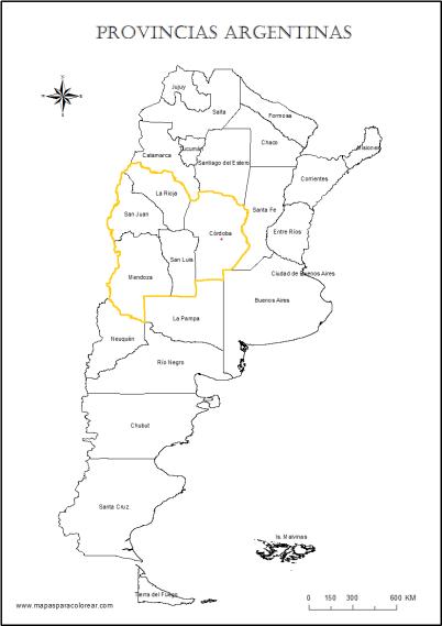 Jurisdicción actual del Consulado en Córdoba